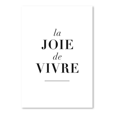 Americanflat La Joie De Vivre Typography on Canvas