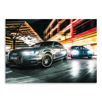 Americanflat Audi Photographic Print Wrapped on Canvas