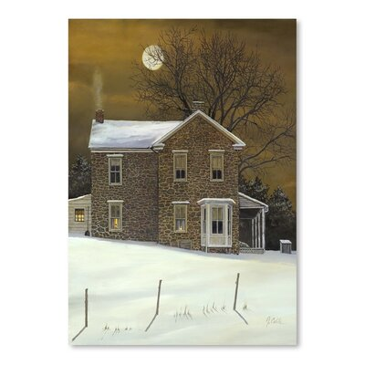 Americanflat Amber Moon Art Print Wrapped on Canvas