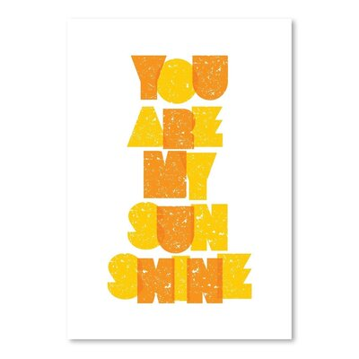 Americanflat You Are My Sunshine Typography