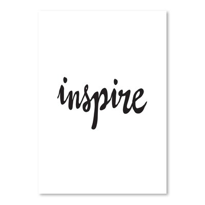 Americanflat Inspire Typography Wrapped on Canvas
