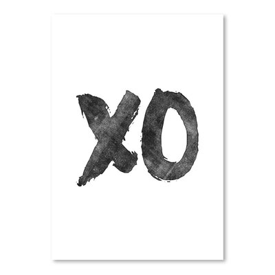 Americanflat XO Typography Wrapped on Canvas