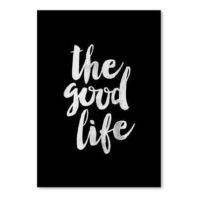 Americanflat The Good Life Typography Wrapped on Canvas
