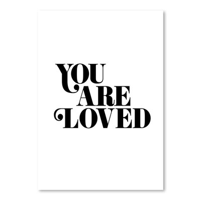 Americanflat You Are Loved 3 Typography on Canvas