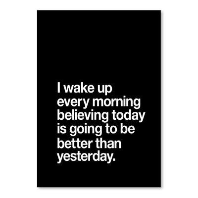 Americanflat I Wake up Every Morning Typography