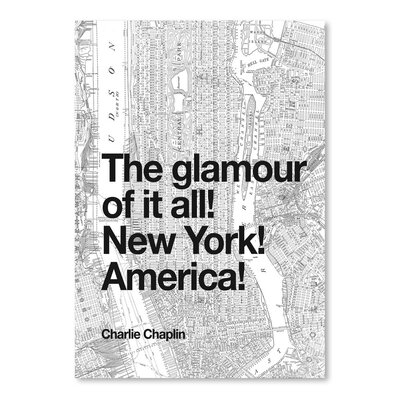 Americanflat The Glamour of It All New York America Poster Typography