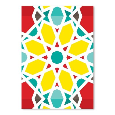 Americanflat Heptagon Multi Graphic Art Wrapped on Canvas
