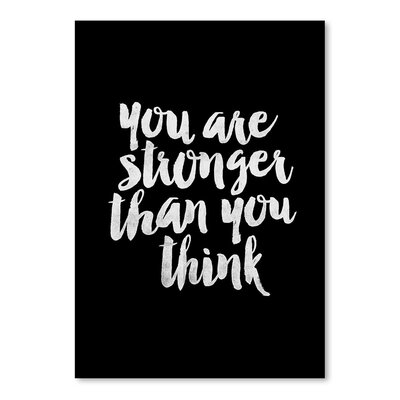 Americanflat You Are Stronger Than You Think Typography Wrapped on Canvas