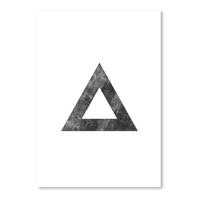 Americanflat Triangle Graphic Art Wrapped on Canvas