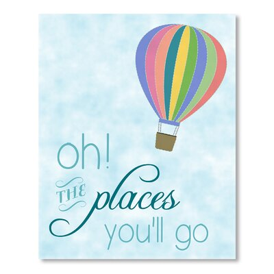 Americanflat Places You'll Go Balloon Graphic Art on Canvas