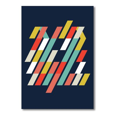 Americanflat Abstract 3 Graphic Art Wrapped on Canvas