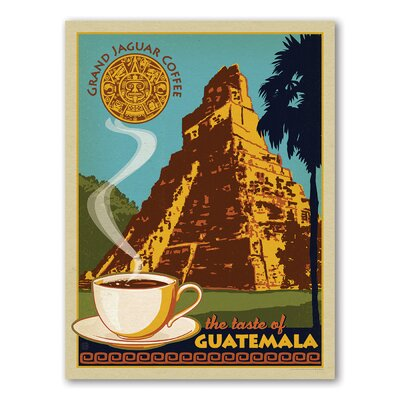 Americanflat Coffee Guatemala Vintage Advertisement Wrapped on Canvas