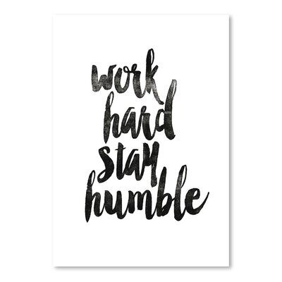 Americanflat Work Hard Stay Humble 2 Typography