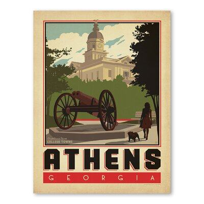 Americanflat Asa Athens Vintage Advertisement Wrapped on Canvas
