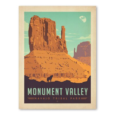 Americanflat Asa Navajo Tribal Park Monument Valley Vintage Advertisement