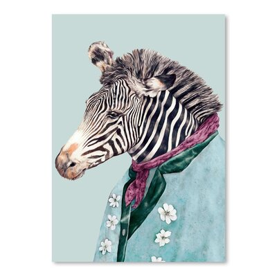 Americanflat Zebra Graphic Art Wrapped on Canvas