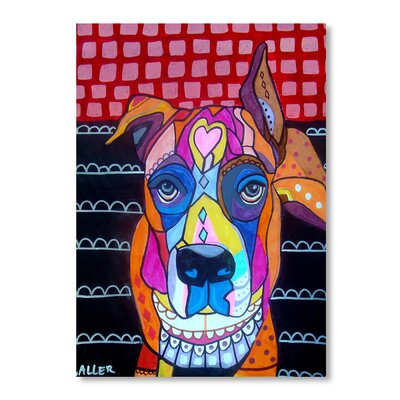 Americanflat Boxer Art Print Wrapped on Canvas
