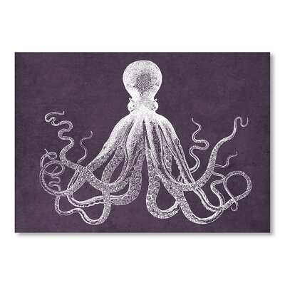 Americanflat Octopus Muted Violet Art Print