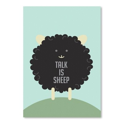 Americanflat Black Sheep Graphic Art on Canvas