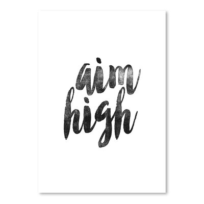 Americanflat Aim High Typography on Canvas