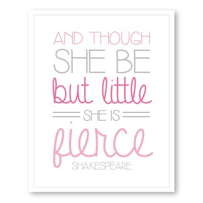 Americanflat Girl's Fierce Typography on Canvas
