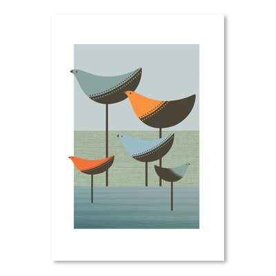 Americanflat Wading Birds Graphic Art Wrapped on Canvas