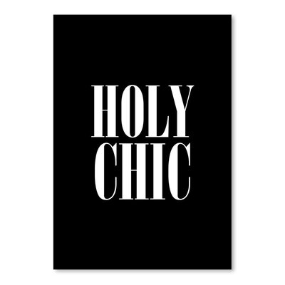 Americanflat Holy Chic Typography on Canvas