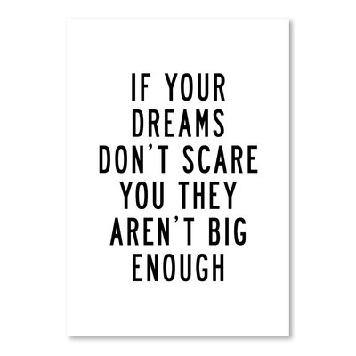 Americanflat If Your Dreams Don't Scare You Typography Wrapped on Canvas