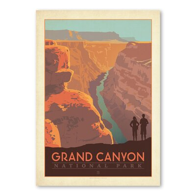 Americanflat Grand Canyon Arizona Vintage Advertisement Wrapped on Canvas