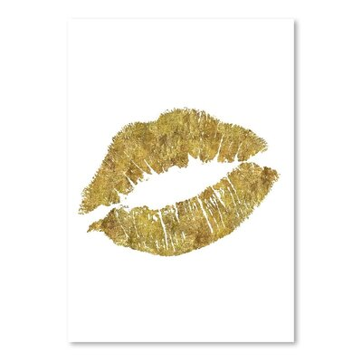 Americanflat Lips Art Print in Gold