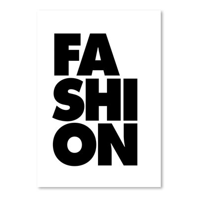 Americanflat Fashion Typography Wrapped on Canvas in Black