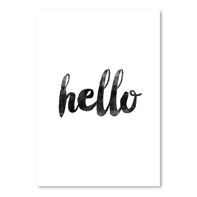 Americanflat Hello Typography Wrapped on Canvas