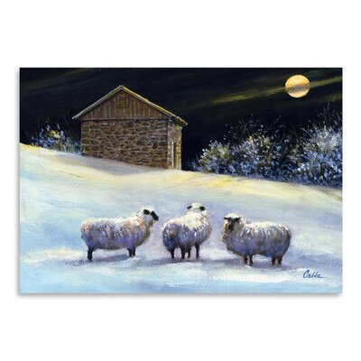 Americanflat January Fleece Art Print Wrapped on Canvas