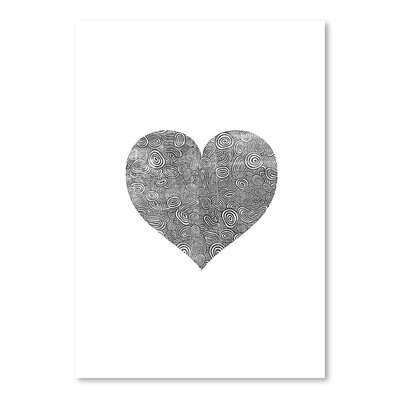 Americanflat Love Heart Swinging  Graphic Art Wrapped on Canvas