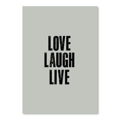 Americanflat Love Laugh Live Typography