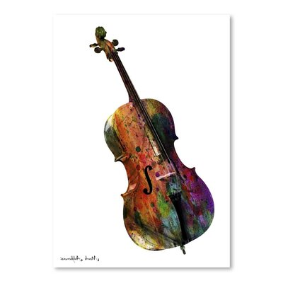 Americanflat Cello Art Print Wrapped on Canvas