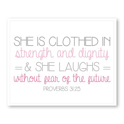 Americanflat Girl's Proverbs Typography Wrapped on Canvas
