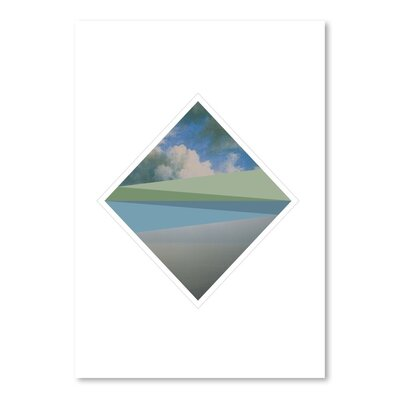Americanflat Landscape Diamond Graphic Art Wrapped on Canvas