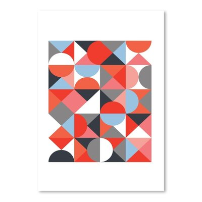 Americanflat Abstract Geometric Graphic Art Wrapped on Canvas