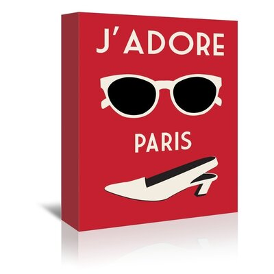 Americanflat J'adore Paris by Alan Walsh Graphic Art Wrapped on Canvas