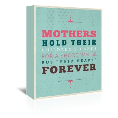 Americanflat Mother's Hold Typography Wrapped on Canvas
