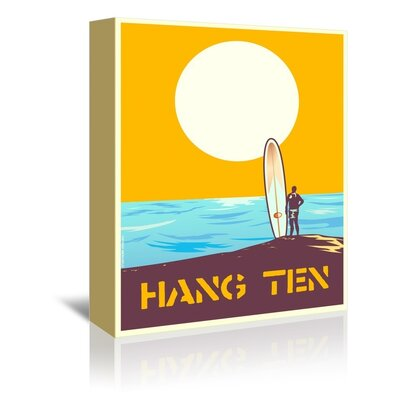 Americanflat Hang Ten by Diego Patino Vintage Advertisement Wrapped on Canvas