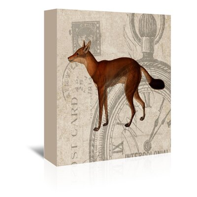 Americanflat Fox Graphic Art on Canvas