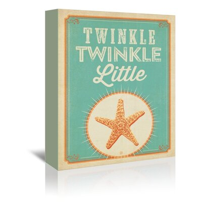 Americanflat Twinkle Twinkle Vintage Advertisement Wrapped on Canvas