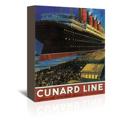 Americanflat Cunard Wall Vintage Advertisement Wrapped on Canvas