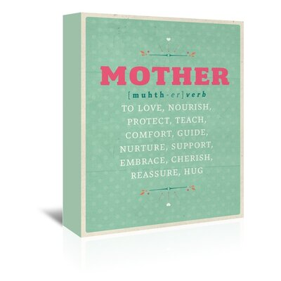 Americanflat Def: Mother Typography Wrapped on Canvas