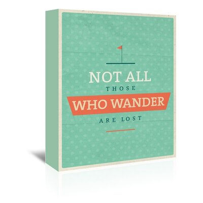 Americanflat Wander Typography Wrapped on Canvas