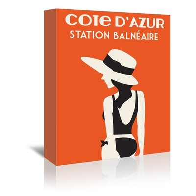 Americanflat Cote D'Azure, Station Balneaire by Alan Walsh Vintage Advertisement Wrapped on Canvas