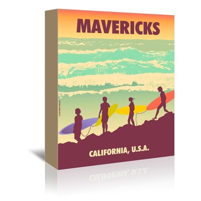 Americanflat Mavericks by Diego Patino Vintage Advertisement Wrapped on Canvas