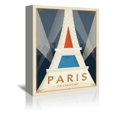 Americanflat Paris Mod Graphic Art Wrapped on Canvas